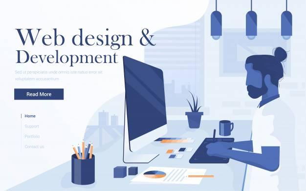 Modern landing web design development in Phnom Penh, Cambodia